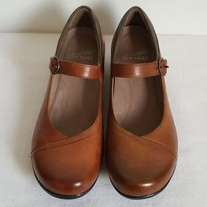 Dansko Brown Leather Mary Jane Shoes 38